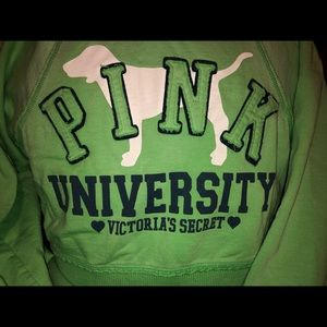 VS PINK Rare Vintage Cropped Zip Up Hoodie